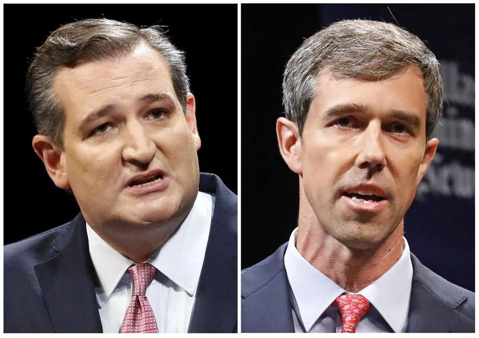 US Senator Ted Cruz (left) and Democratic Representative Beto O'Rourke of Texas.
