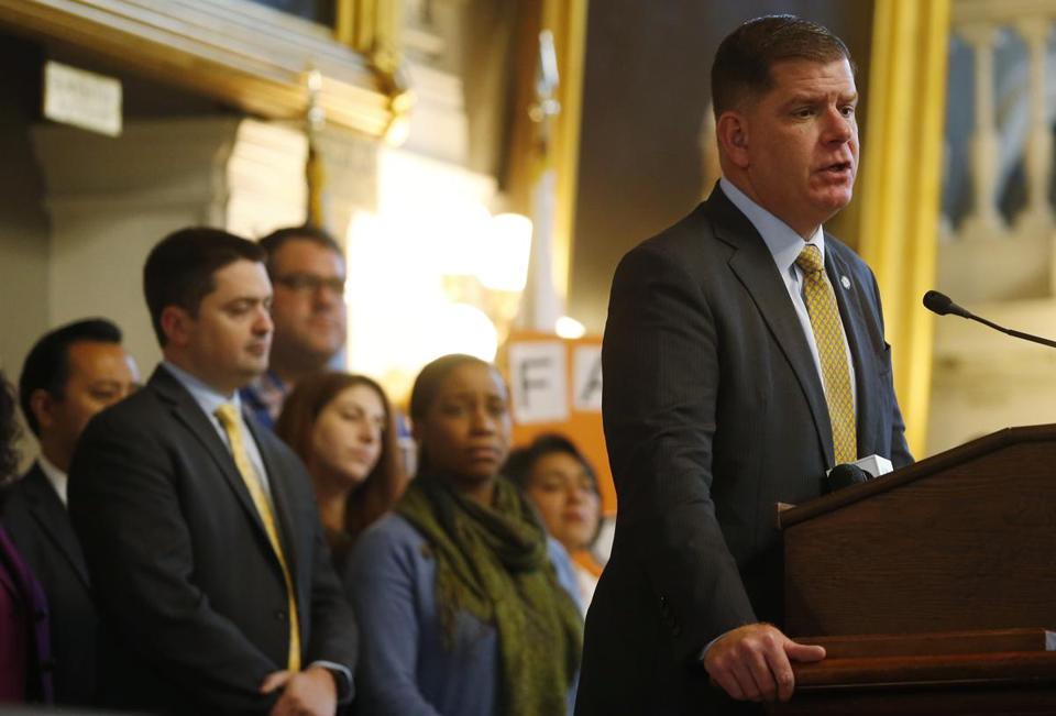 "Mayor Walsh spoke at a rally supporting immigrant families to speak out against the Trump Administration's change to the ""public charge"" provision which would increase the number of government programs that count against an immigrant when applying for a visa or green card"