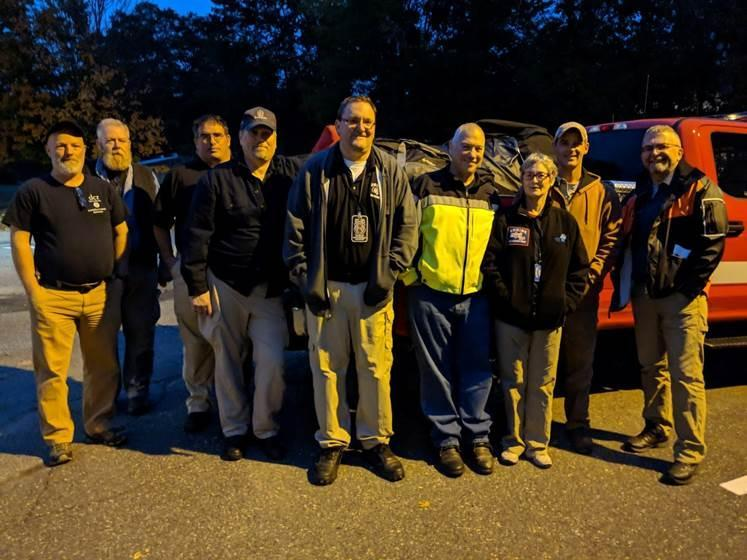 Members of the Northwest Massachusetts Incident Management Team.