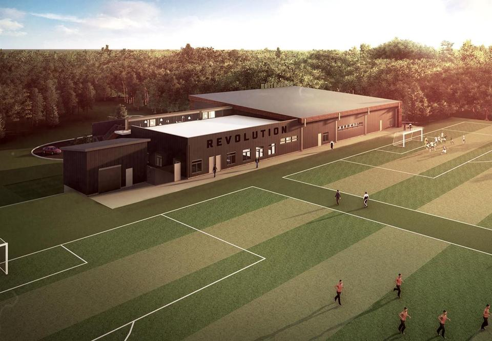 A rendering of the new practice facility.