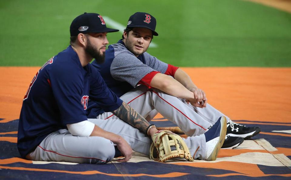 Blake Swihart (left) and Andrew Benintendi.