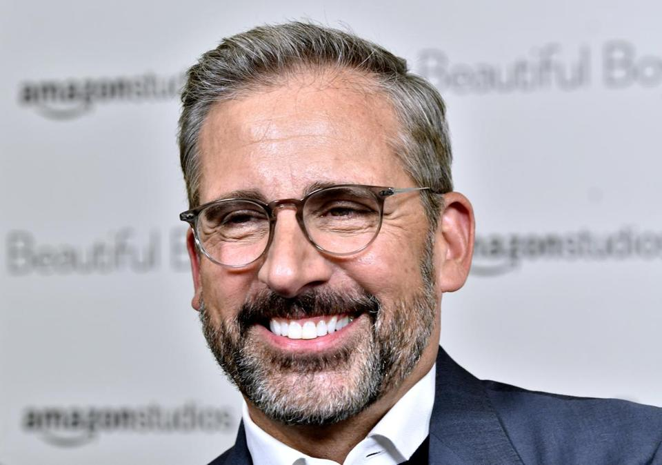 BOSTON, 10/7182018 - Steve Carell arrives at the AMC Boston Common for a screening of his new film Beautiful Boy. Josh Reynolds for The Boston Globe (Lifestyle, goldman)