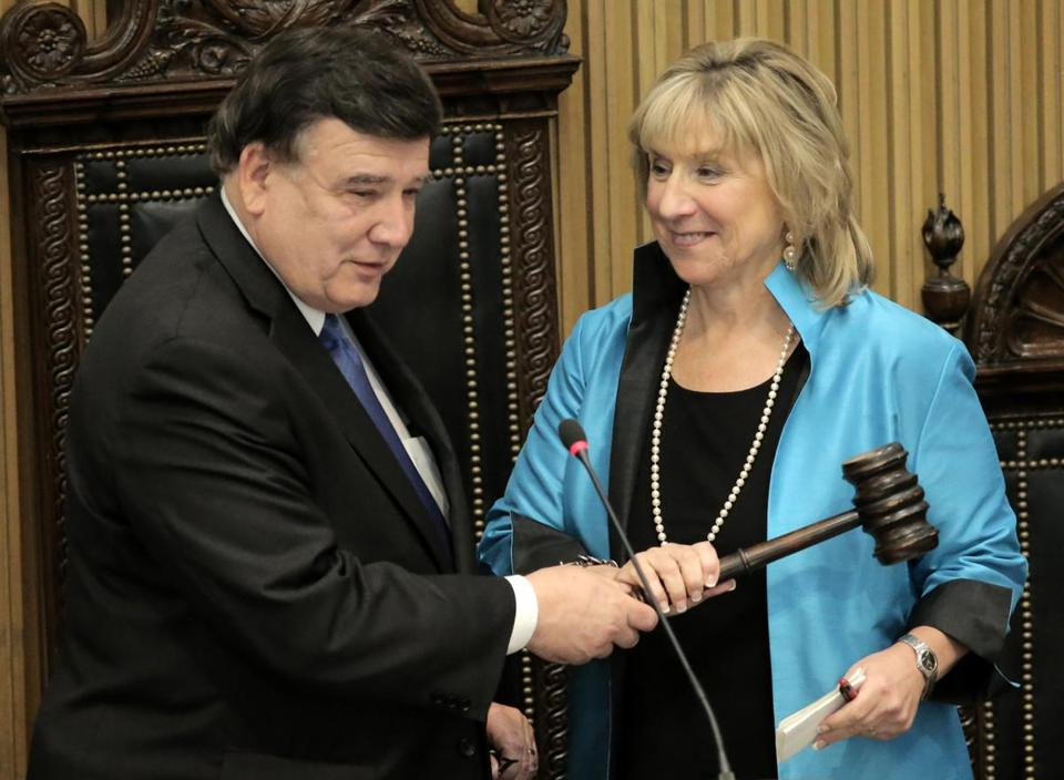 Marc R. Pacheco, the state's longest serving senator, has spent at least 240 days traveling since January 2013, at a cost to others of at least $68,000. Senate President Karen E. Spilka jetted to France this summer for leadership training.