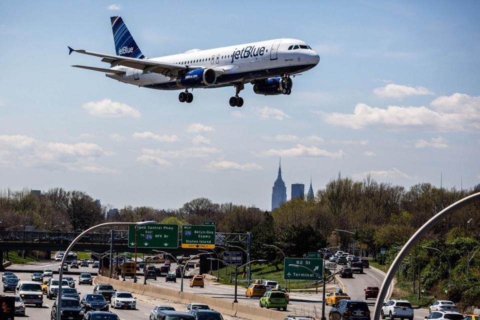 JetBlue is studying the profit potential of trans-Atlantic flights while rolling out a plan to revive its shares by revamping operations.