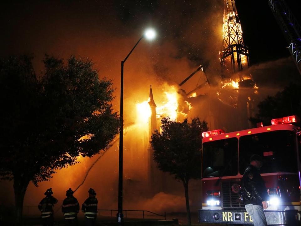 Firefighters Battled The Seven Alarm Fire In Wakefield