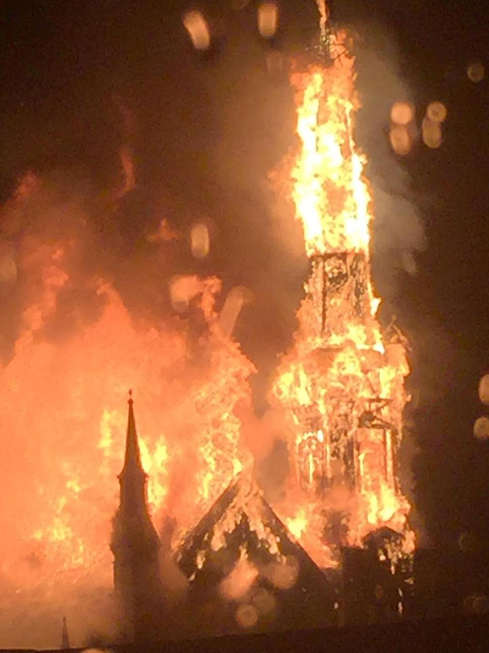 A Witness Took This P O When The Spire Was Fully Involved