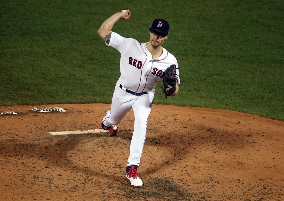 Joe Kelly threw 14 pitches in the sixth, 11 for strikes.