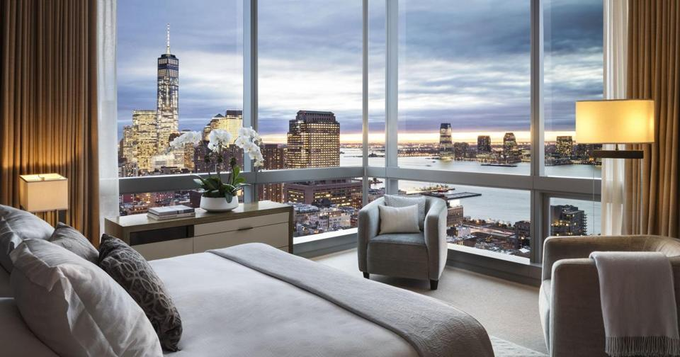 A room in the Dominick Hotel, the former Trump SoHo in New York.