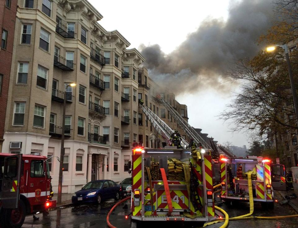Boston firefighters responded to Hemenway Street Saturday afternoon.