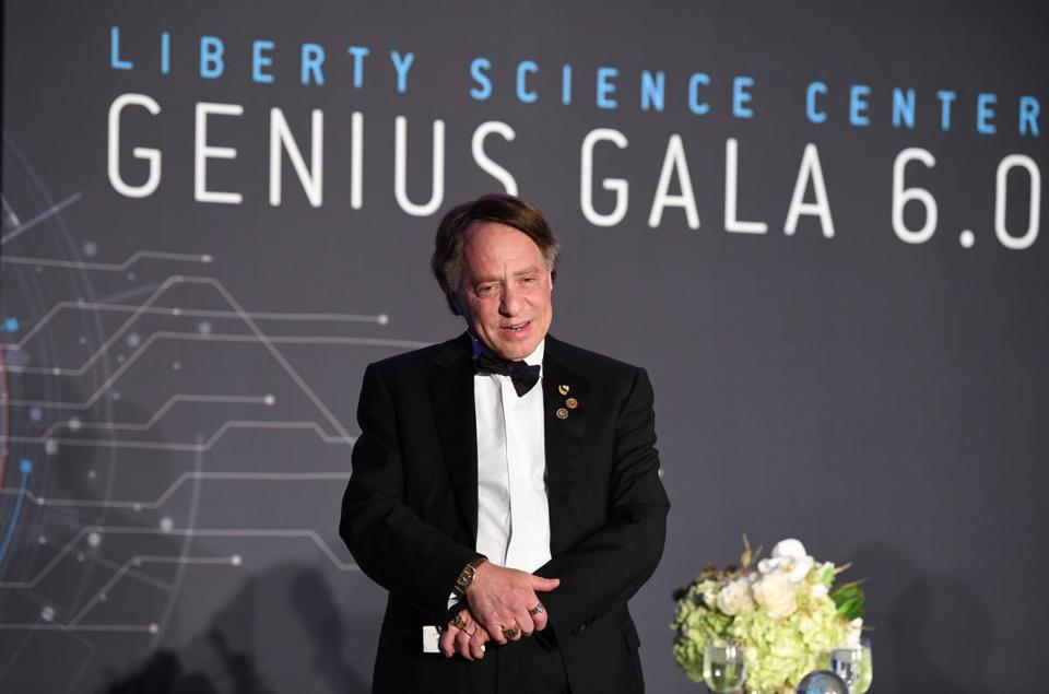 JERSEY CITY, NJ - MAY 05: Genius Award recipient, Director of Engineering at Google and Co-Founder and Chancellor of Singularity University Ray Kurzweil speaks on stage during Genius Gala 6.0 at Liberty Science Center on May 5, 2017 in Jersey City, New Jersey. (Photo by Dave Kotinsky/Getty Images for Liberty Science Center)