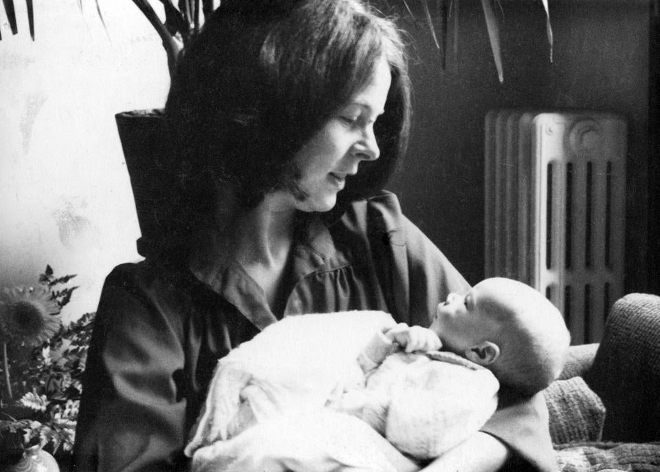 Elaine Pagels with her son, Mark, when he was 3 months old.