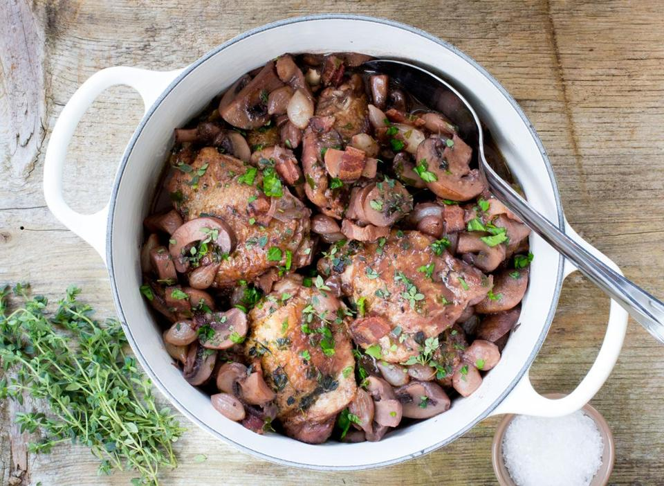 Recipe Instead Of A Whole Bird In Coq Au Vin Add Chicken Thighs