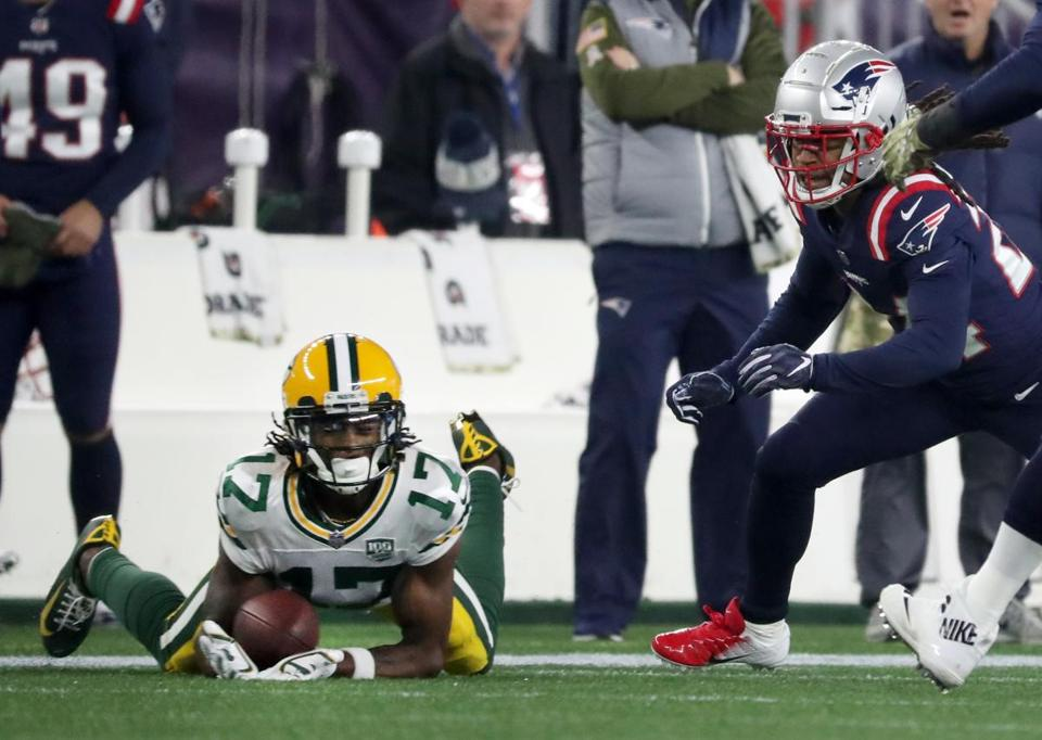 A pass to Davante Adams ruled incomplete after Bill Belichick challenged  the call in the third b67619bb6