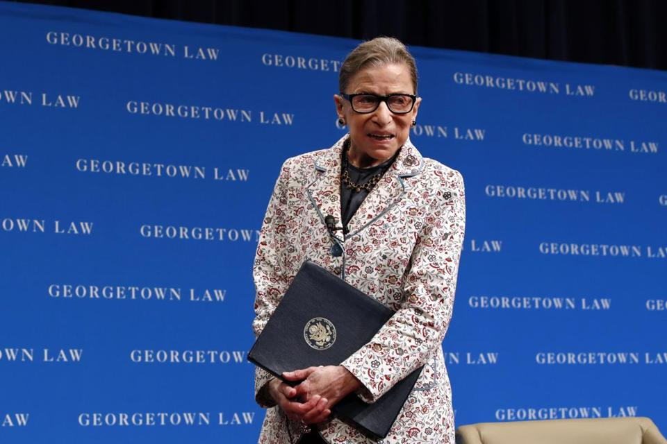 Supreme Court Justice Ruth Bader Ginsburg.