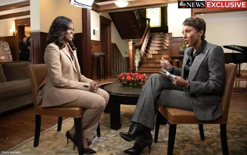 Michelle Obama was interviewed by ABC's Robin Roberts.