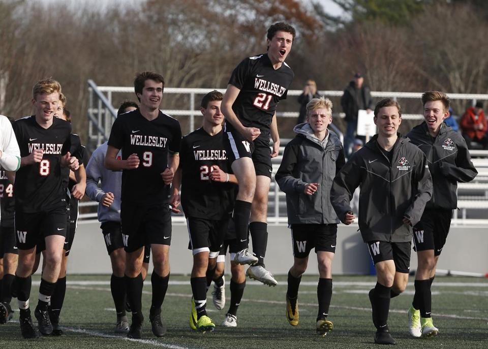 Wellesley was walking on air after defeating BC High for the Division 1 South title.