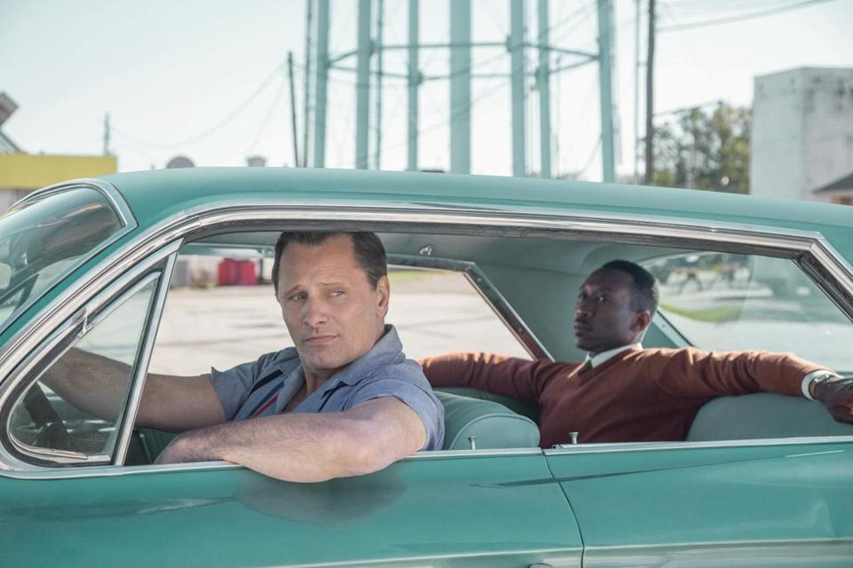 "Viggo Mortensen is a driver for Mahershala Ali in ""Green Book."""