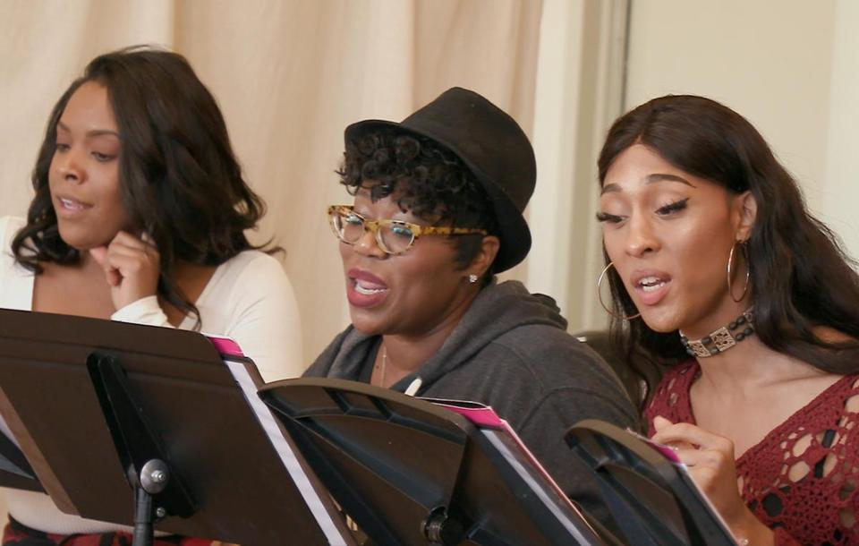 "From left: Bryonha Marie Parham, Melody A. Betts, and Mj Rodriguez in rehearsal for ""ExtraOrdinary."""