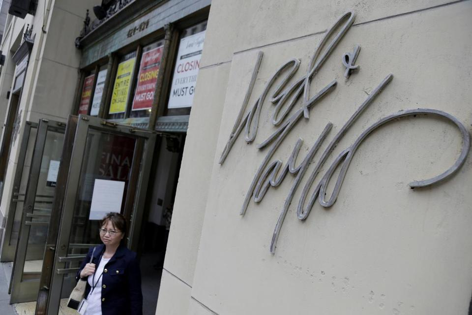 Signs advertised the closing of a Lord & Taylor store in New York last month.