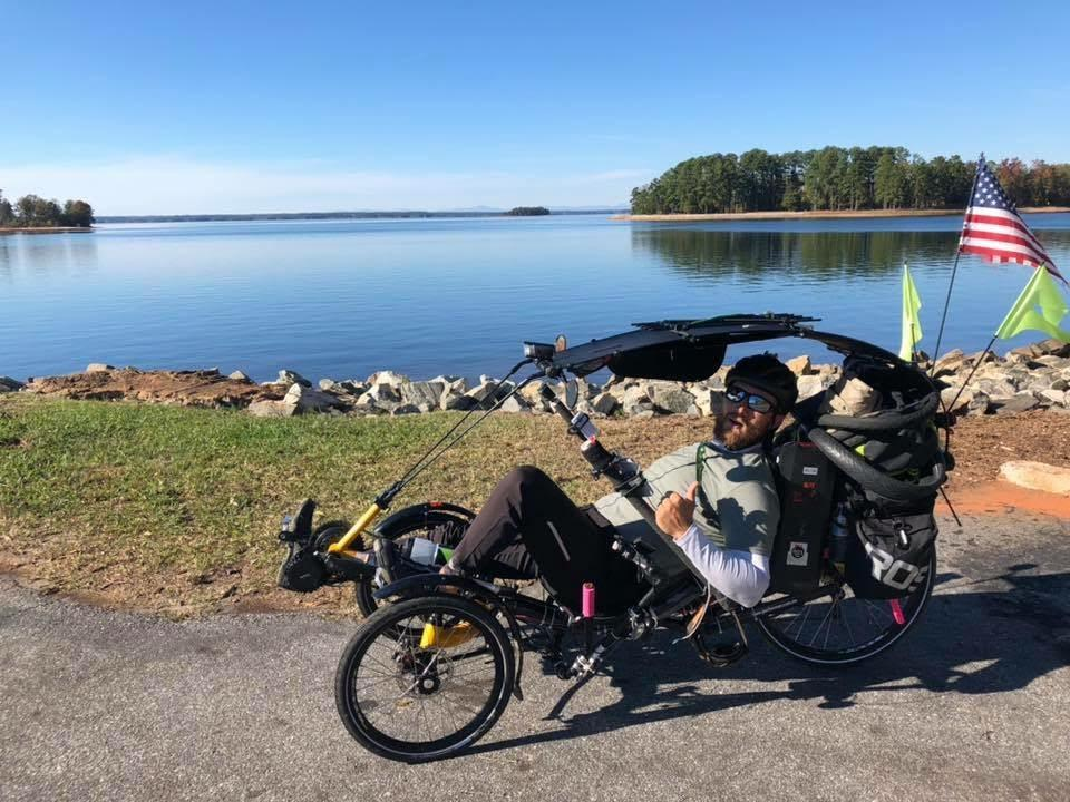 16bikeguy james dobson on his trek across the country to raise money for childhood cancer