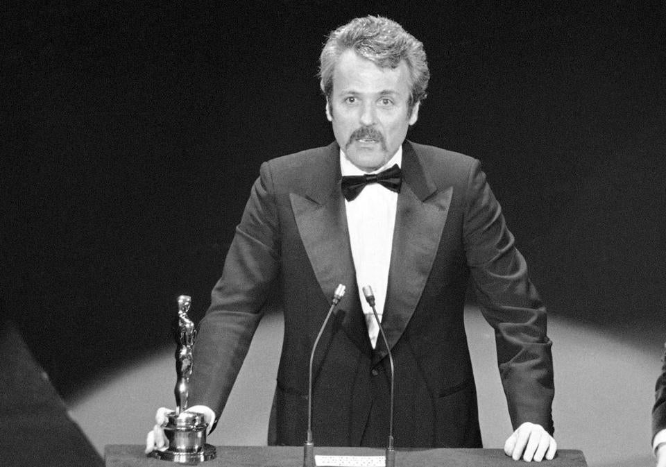 "Willaim Goldman accepted his Oscar in 1977 for ""All The President's Men."""