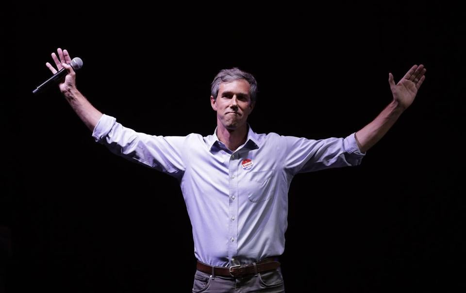 Beto O'Rourke spoke to supporters on Election Night.