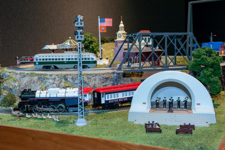"""All Aboard: Trains at Science Park"" is showing at the Museum of Science, Boston, through Jan. 6."