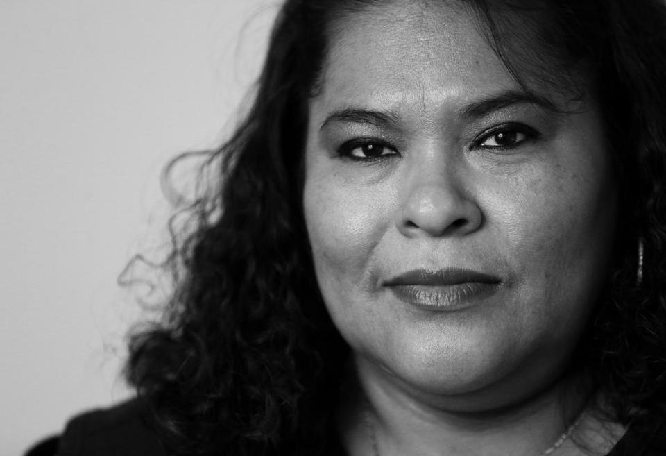 Rosa Yanes is a janitor who cleans the floors of the high-rise the Globe now occupies in downtown Boston.
