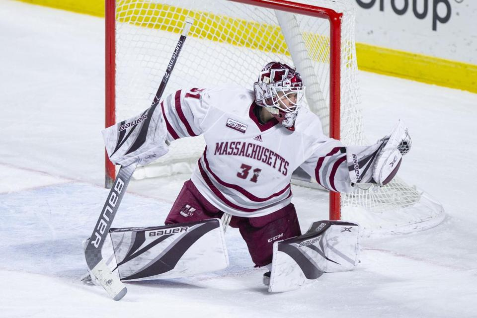 Matt Murray improved to 8-0 after UMass defeated Princeton in overtime last Saturday.