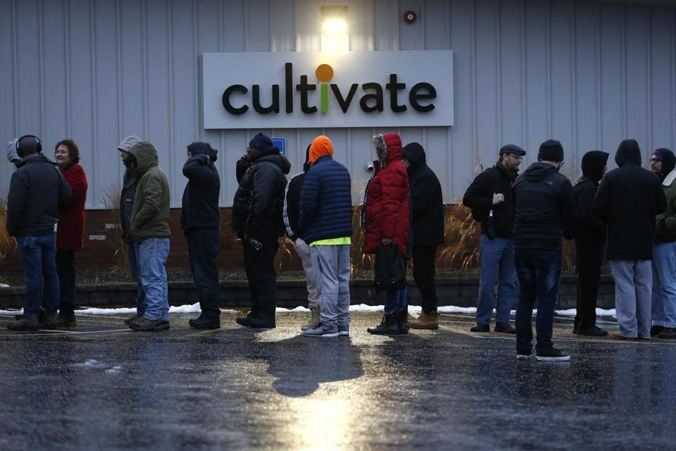 Crowds have flocked to the state's first two recreational marijuana retailers. It likely will be months before any such shops open up in Boston.