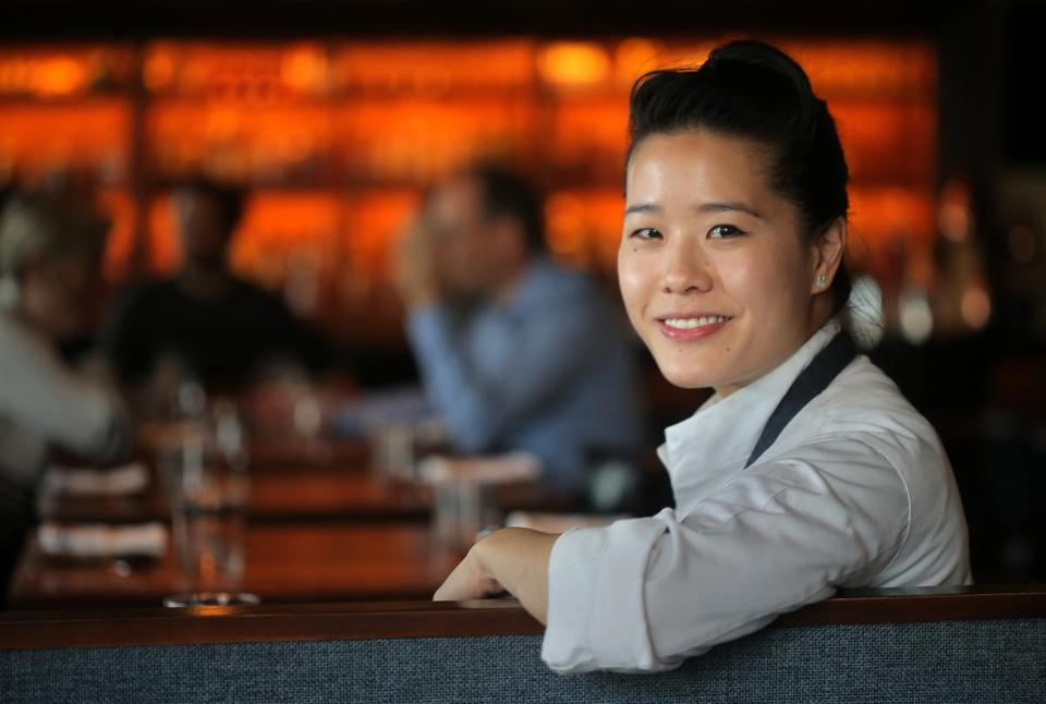 Chef-owner Tracy Chang at Pagu in Central Square.
