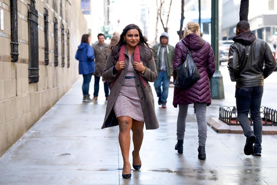 "for 02namesKaling only -- Mindy Kaling in ""Late Night."" (Emily Aragones/Sundance Institute) *MUST CREDT*"