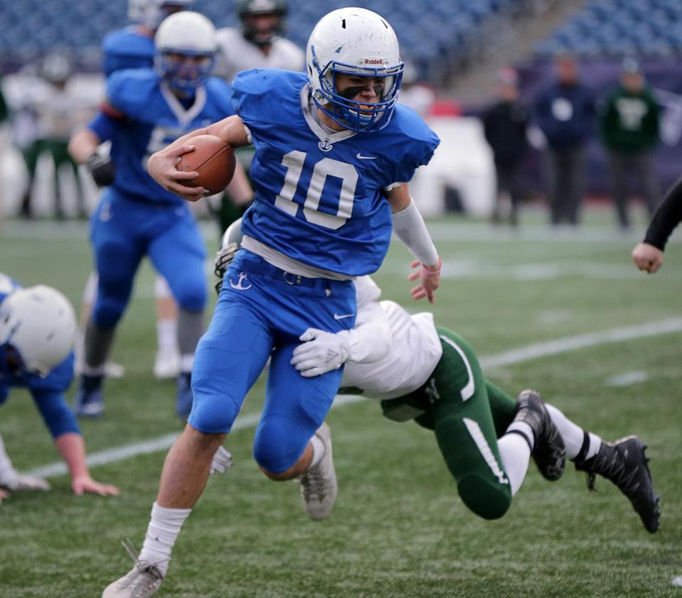 Will Sheskey was on his way to breaking Scituate's single-season rushing record with this fourth-quarter run.