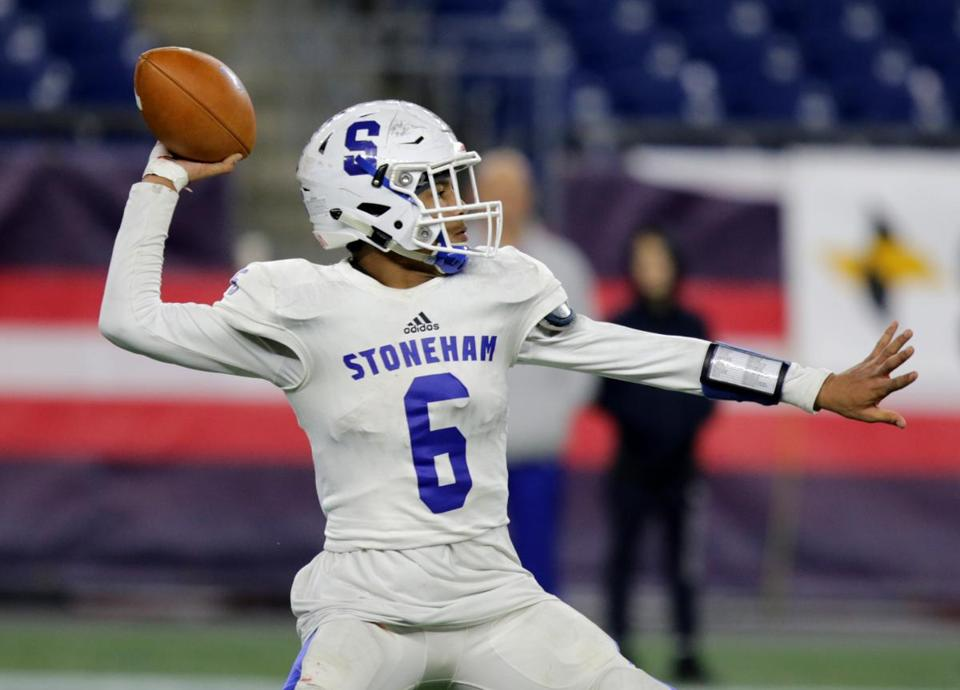 Quarterback Deshawn Chase ran for a TD in Stoneham's win over Old Rochester.