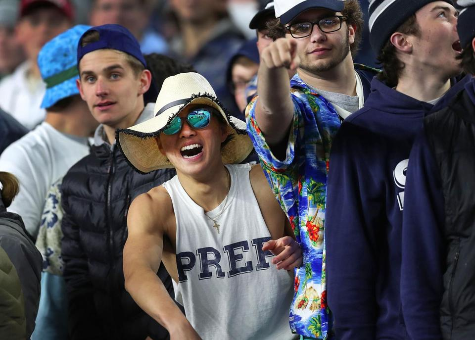 St. John's Prep fans had plenty to cheer about during their win over Catholic Memorial.