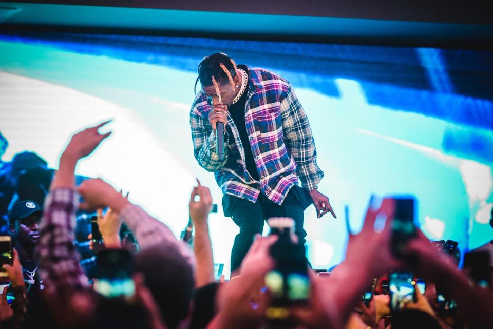 05names - Travis Scott performs at The Grand on Sunday, Dec. 2. (Big Night Entertainment Group)