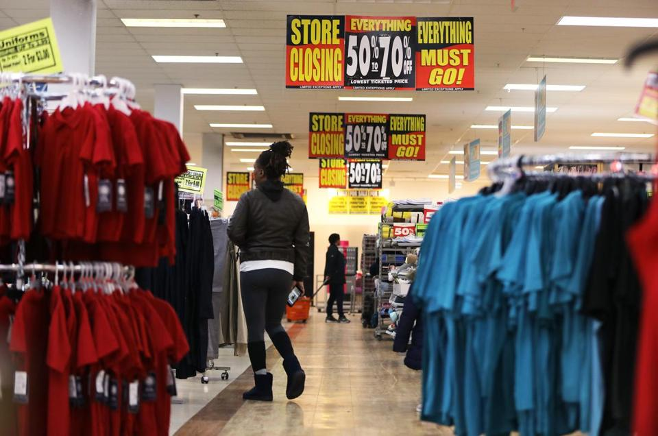 Boston, MA - 12/4/18 - Fallas (cq), a discount department store in Dorchester, is closing. Photo by Pat Greenhouse/Globe Staff Topic: 05discountMetro Reporter: Janelle Nanos