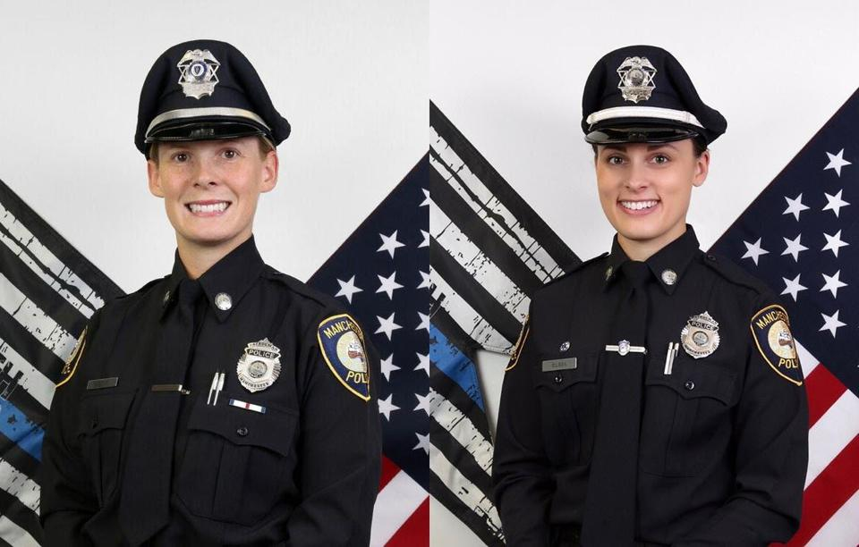 New Manchester-by-the-Sea police officers Andrea Locke (left) and Jennifer Gilson.
