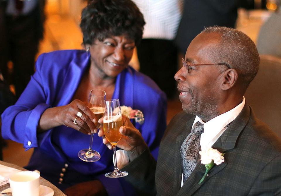 Ellen and Curtis Jordan, married 58 years, toasted one another at the annual Golden Wedding Anniversary Celebration held at the Four Seasons Hotel in Boston on Tuesday.