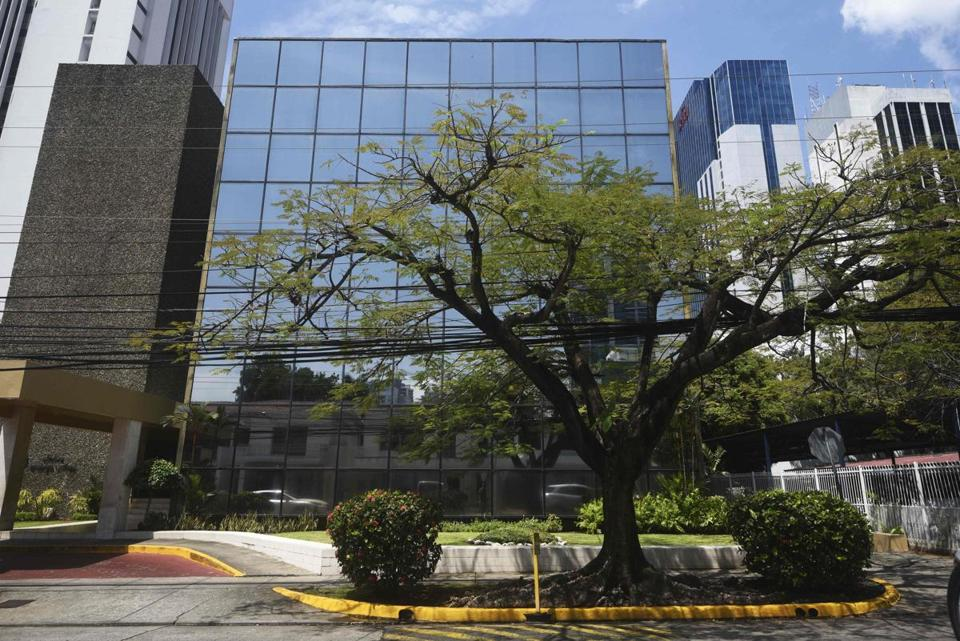 "The building where Mossack Fonseca law firm offices are located in Panama City. The US government announced charges Tuesday against four men it said laundered money and arranged tax avoidance schemes through the Panama firm at the center of the ""Panama Papers"" scandal."