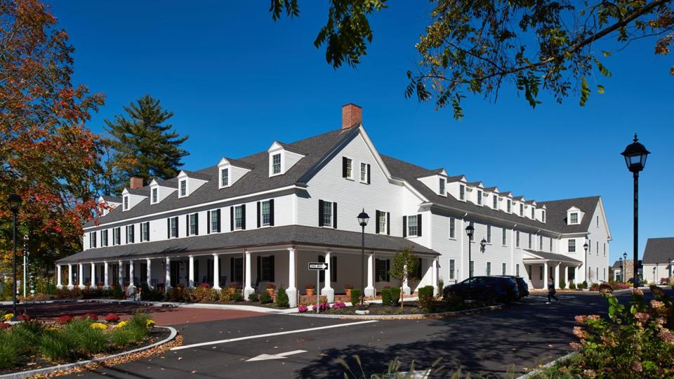The new Groton Inn preserves the historic feel of the original but incorporates modern amenities.
