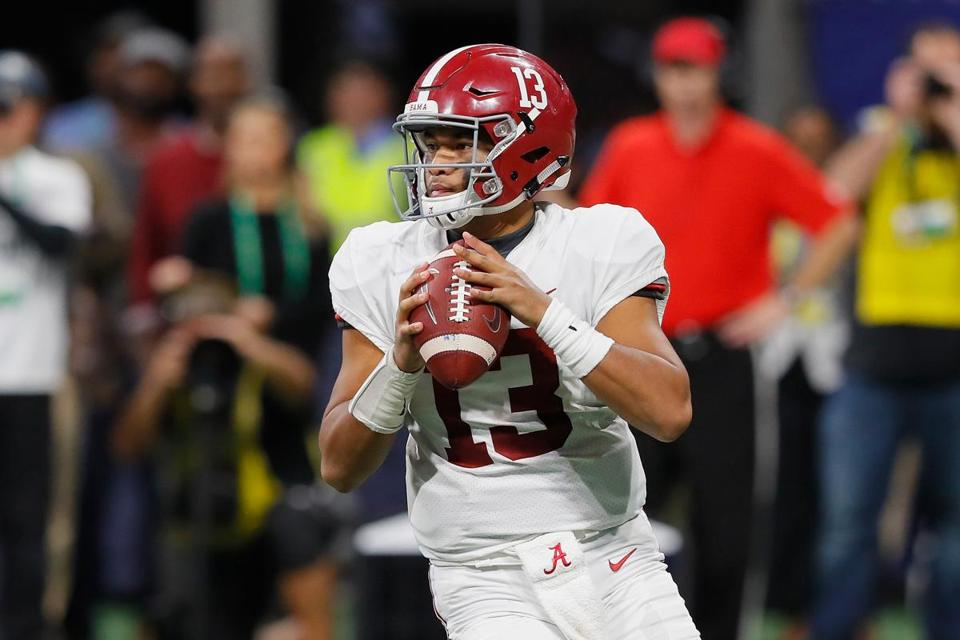 Alabama's Tua Tagovailoa passed for 3,353 yards and 37 touchdowns with a 67.7 completion percentage.
