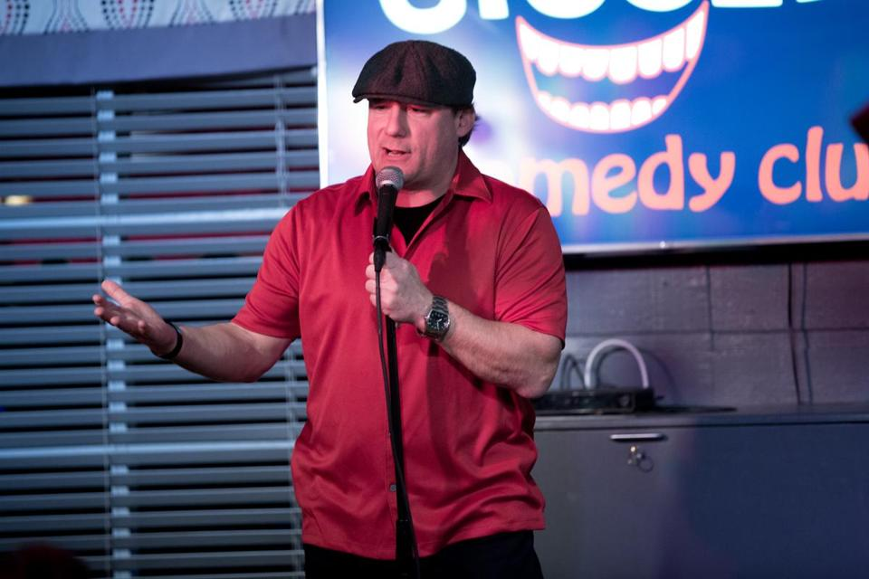 Comedian Dave Russo and Giggles Comedy Club in Saugus will again host Globe Santa Comedy Night. It will be held Wednesday. Above: Russo at last year's event.