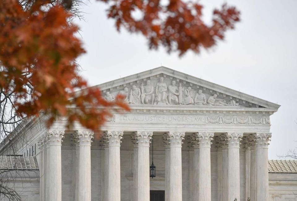 A December 10, 2018 photo shows the US Supreme Court in Washington, DC. - The US Supreme Court declined to hear appeal cases by Kansas and Louisiana to end public funding through Medicaid to Planned Parenthood. (Photo by MANDEL NGAN / AFP)MANDEL NGAN/AFP/Getty Images