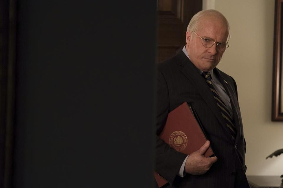 "Christian Bale stars as Dick Cheney in ""Vice."""