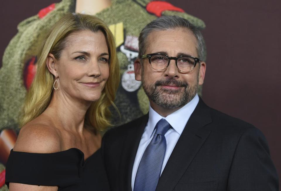 "Nancy Carell, left, and Steve Carell arrive at the premiere of ""Welcome to Marwen"" at Arclight Hollywood on Monday, Dec. 10, 2018, in Los Angeles. (Photo by Jordan Strauss/Invision/AP)"
