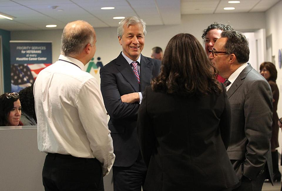 JPMorgan Chase CEO Jamie Dimon visited Boston Wednesday as his bank launches a retail banking expansion in the area — something that Citi tried but failed to pull off.
