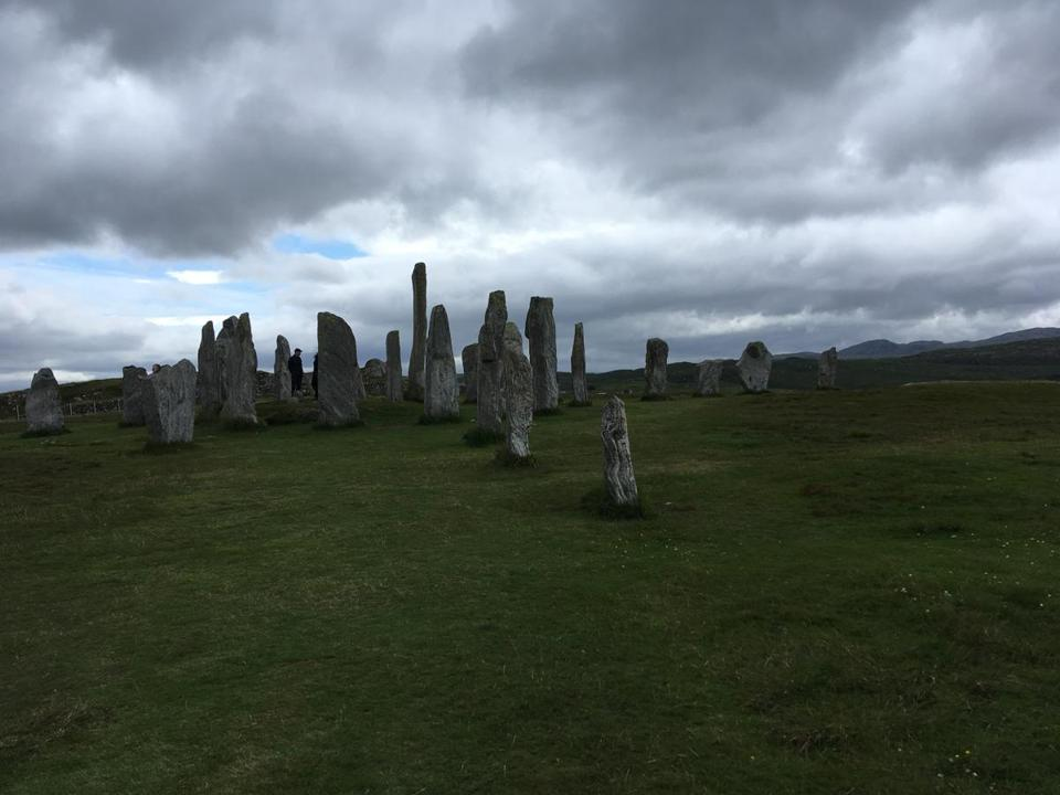 The 5,000-year-old standing stones at Callanish on the Isle of Lewis.