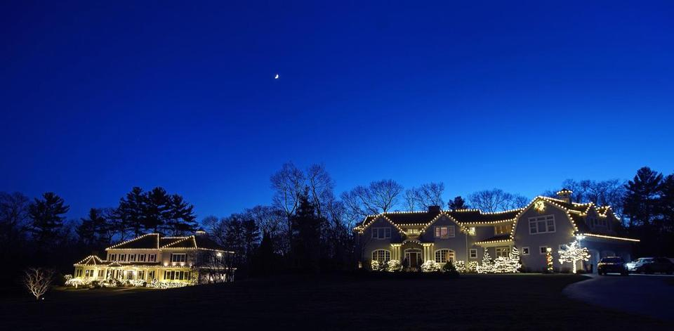 Two homes on Tara Drive in Norwell that were decorated by the  Marshfield-based company - Would You Pay Someone To Decorate Your House For Christmas? These