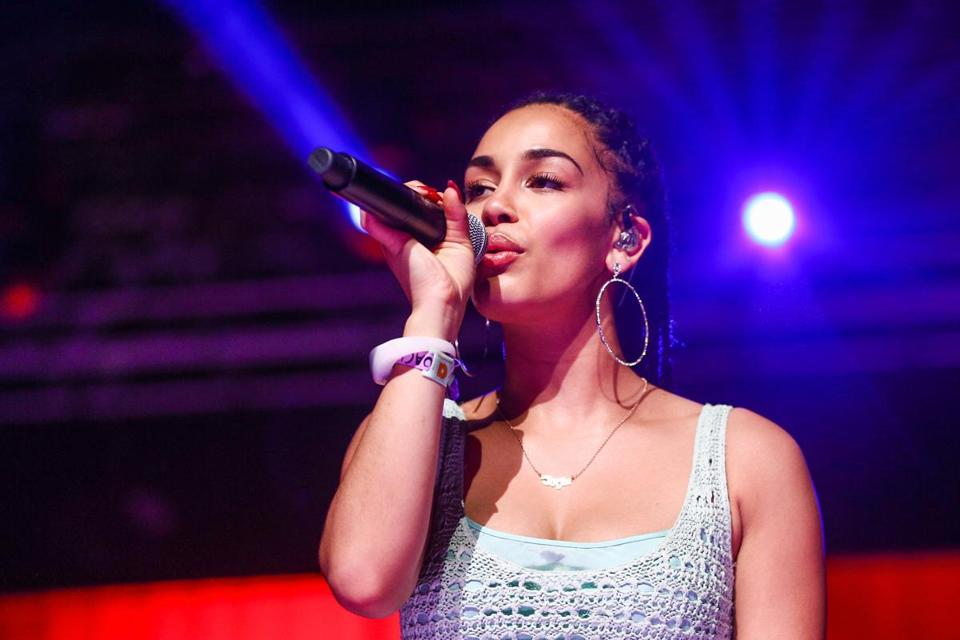 INDIO, CA - APRIL 21: Jorja Smith performs onstage during the 2018 Coachella Valley Music And Arts Festival at the Empire Polo Field on April 21, 2018 in Indio, California. (Photo by Rich Fury/Getty Images for Coachella)